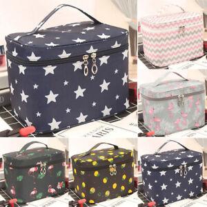 Womens Girl Make-Up Bag Vanity Case Box Cosmetic Nail Tech Storage Bags Fashion