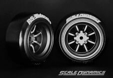 Scale Dynamics  10109  V16D RS Watanabe wheels black(Gun metalic) 9mm Offset