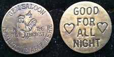 Gem Saloon Tombstone Arizona WHORE HOUSE BROTHEL TOKEN WHISKEY GIRLS VINTAGE