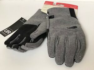 The North FaceApex Etip Gloves Heather Gray Medium touch screen capability
