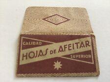 Vintage Razor Blade & Wrapper 'Hojas De Afeitar' Calidad Superior