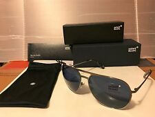 b0231d61ac8 Montblanc Mb546s 14v Silver Aviator Sunglasses