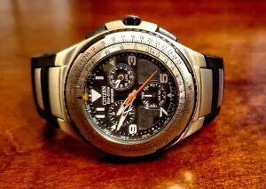 Rare Eco-Drive Skyhawk - Citizen Pilot Watch Model: jr3125-55e