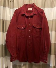 Vintage Filson Alaskan Guide Heavyweight Flannel Shirt Burgundy XL