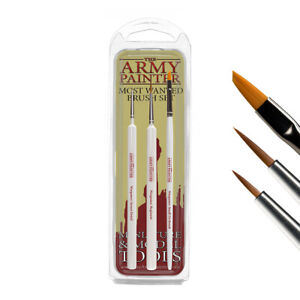 Army Painter Most Wanted Brush Set - INSANE DETAIL REGIMENT SMALL DRYBRUSH