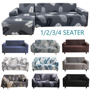 Sofa Covers High Stretch Lounge Slipcover Protector Chair Couch Cover L Shape