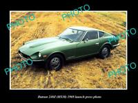 OLD LARGE HISTORIC PHOTO OF 1969 DATSUN 240Z LAUNCH PRESS PHOTO