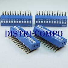 Dipswitch d'angle 12 positions pour circuit imprimé (lot de 4)