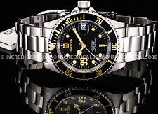 Invicta Men JASON TAYLOR Automatic Black Dial Silver Bracelet LIMITED ED Watch