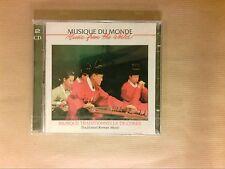 BOITIER 2 CD / MUSIQUE TRADITIONNELLE DE COREE / NEUF SOUS CELLO