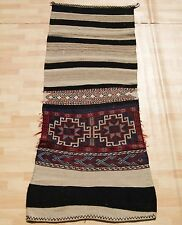LIVING ROOM KURDISH KILIM RUG BLACK RECTANGLE WOOL 30+ HAND WOVEN RUNNERS 3X6ft