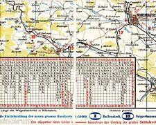 Nordhausen Bleicherode Worbis 1928 Teilkarte/Ln. Bischofferode Hesserode Trebra