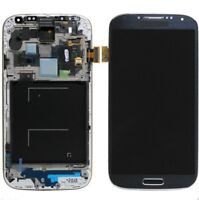DISPLAY+TOUCH SCREEN per SAMSUNG GALAXY S4 GT i9515 +FRAME COVER GRADO A NERO
