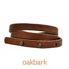Equine Organix Triple Wrap Leather Bracelet light brown/oakbark - horse lover