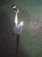 NEW ONE OF A KIND LARGE STAINLESS STEEL LIGHTNING BOLT BOLTS PENDANT NECKLACE