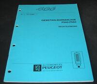 Werkstatthandbuch Peugeot 406 Diebstahlwarnanlage Alarmanlage PSA2 PSA3 04/1997