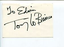 Tony Lo Bianco Twilight Zone French Connection Signed Autograph