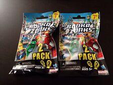 SDCC 2013 MARVEL BONKA ZONKS 2 PACK SERIES 1 x2 4 FIGURES W/GAME CODE HASBRO HTF