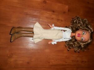 BIG BRATZ YASMIN 2003 LARGE 24 INCH DOLL IN BOOTS IN SKIRT AND WHITE BLOUSE