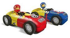 NEW #7 Blue and Yellow Hot Rod Monkey Bender Hog Wild Toys race car tin joe