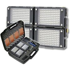 Vidpro Pro 4-Piece Photo/Video LED Light Kit+Battery, Charger, Diffusers, Case