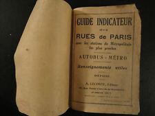Guide Indicateur des Rues de Paris