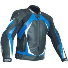 Blousons bleus en cuir pour motocyclette Homme