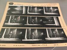 ADAMO à L'OLYMPIA le 17 Septembre 1965 : PLANCHE CONTACT ORIGINALE DE 1965