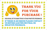 Thank You For Your Purchase Label Stickers Rolls of 100, 250, 500 & 1000 2 x 3