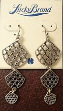 Triple Drop Earrings Orig. $29 Nwt Lucky Brand Silver Tone Openwork