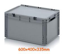 Umzugsbehälter Lagerbox Transport Box mit Deckel Alzweck 600x400x335mm Lager