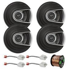 "4x Polk Audio 6.5"" Car/Marine Speakers, 4x Harness (Chrysler/Dodge), 50' Wire"