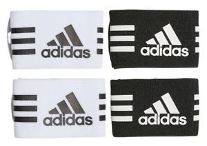 Adidas Ankle Straps Pair Shin Straps Guard Fasteners Shin Stays Black White