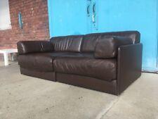 De Sede DS 76 braun Leder Sofa Couch Schlafcouch Vintage 2 Sitzer DESEDE Design
