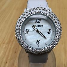 Unlisted By Kenneth Cole Beefy Rhinestone Analog Quartz Watch Hours~New Battery
