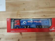 "Herpa 310314 - 1/87 MB Actros Bigspace Gardinenplanen-Sattelzug ""Weck + Poller"""