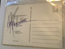 XTC Autographed Signed Postcard Drums and & Wires + Pin Surround Andy Partridge