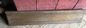 "Antique Architectural Wood Oak PEDIMENT HEADER Mantel Board Salvage 33"" Molding"