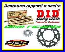 Kit Trasmissione Racing 520 YAMAHA YZF-R6 600 03 corona catena DID ERV3 PBR 2003