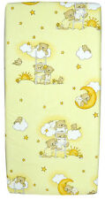 100%25 COTTON FITTED SHEET 140x70 120x60 90x40 PRINTED COLOURFUL BABY COT NURSERY