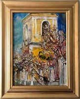 """Russischer Realist Expressionist Öl Leinwand """"Herbst"""" 40x30 cm"""