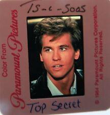 TOP SECRET CAST Val Kilmer, Lucy Gutteridge, Peter Cushing  1984 SLIDE 1