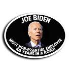 Most Non-Essential Employee Anti Joe Biden Sticker Decal Trump