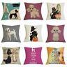 18inch Poodle Pillow Case Cute Dog Cushion Cover Bedroom Sofa Decoration Gifts