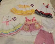 NEW LOT Baby Girl Clothes Size 12 months dresses summer shorts sets NWT shirts