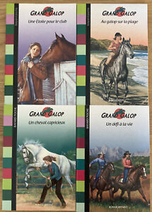 4 X Grand Galop French Language Books Bundle Horses By Bonnie Bryant Horses Girl