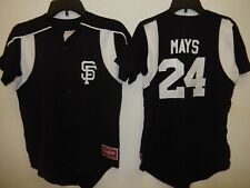0213 Boys Youth San Francisco Giants WILLIE MAYS Full Button Baseball JERSEY