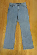 DENIM & COMPANY WOMENS SZ 10 12 JEANS MED BLUE STRETCH BOOT CUT COUNTRY COW GIRL