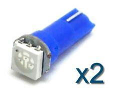 2x LED lampe T5 70 73 74 BLEU / BLUE Voiture/tuning Car Dashboard LIGHT BULB 12V