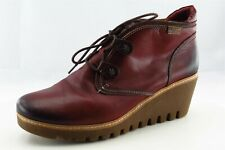 Pikolinos Size 41 M Round Toe Wine Red Short Boots Leather Boots